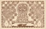 Austria, 20 Heller, FS 124a