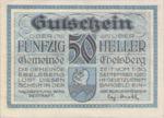 Austria, 50 Heller, FS 140Ib