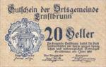 Austria, 20 Heller, FS 183a