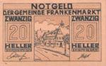 Austria, 20 Heller, FS 209d