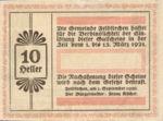 Austria, 10 Heller, FS 196a