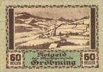 Austria, 60 Heller, FS 289a