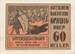 Austria, 60 Heller, FS 290ax
