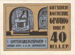 Austria, 40 Heller, FS 290c