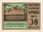 Austria, 30 Heller, FS 290f
