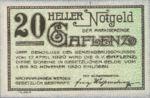 Austria, 20 Heller, FS 216
