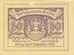 Austria, 50 Heller, FS 278Ic