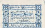 Austria, 20 Heller, FS 309IIx