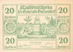 Austria, 20 Heller, FS 241IIa1.3b