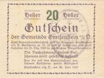Austria, 20 Heller, FS 275f