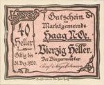 Austria, 40 Heller, FS 318IVb