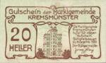 Austria, 20 Heller, FS 476Ia