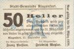 Austria, 50 Heller, FS 451a