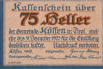 Austria, 75 Heller, FS 468b