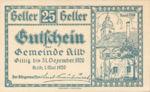Austria, 25 Heller, FS 436IIa