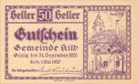 Austria, 50 Heller, FS 436IIa