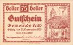 Austria, 75 Heller, FS 436IIa