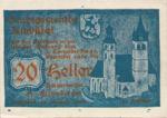 Austria, 20 Heller, FS 449f1