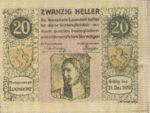 Austria, 20 Heller, FS 563b