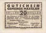 Austria, 20 Heller, FS 602a