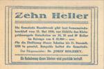 Austria, 10 Heller, FS 581b