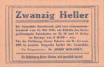 Austria, 20 Heller, FS 581c