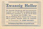 Austria, 20 Heller, FS 581d