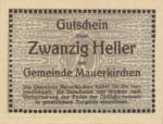 Austria, 20 Heller, FS 598IC