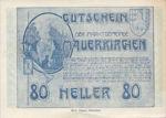 Austria, 80 Heller, FS 598IIb