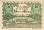 Austria, 10 Heller, FS 599e