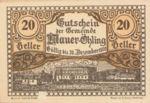 Austria, 20 Heller, FS 599e