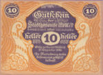 Austria, 10 Heller, FS 605II