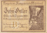 Austria, 10 Heller, FS 614b