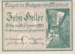 Austria, 10 Heller, FS 614c