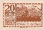 Austria, 20 Heller, FS 626n1