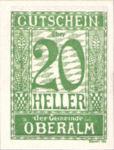 Austria, 20 Heller, FS 681IId