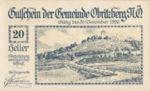 Austria, 20 Heller, FS 701a