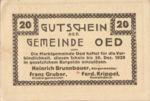 Austria, 20 Heller, FS 703e