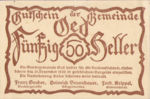 Austria, 50 Heller, FS 703e