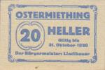 Austria, 20 Heller, FS 713IIa