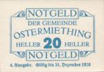 Austria, 20 Heller, FS 713IVa