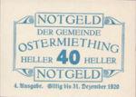 Austria, 40 Heller, FS 713IVa