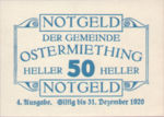 Austria, 50 Heller, FS 713IVa