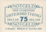 Austria, 75 Heller, FS 713IVa
