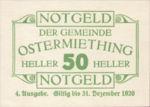 Austria, 50 Heller, FS 713IVc