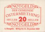 Austria, 20 Heller, FS 713IVe