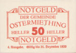 Austria, 50 Heller, FS 713IVe