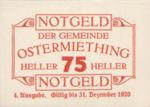 Austria, 75 Heller, FS 713IVe