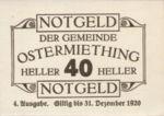 Austria, 40 Heller, FS 713IVg