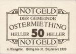 Austria, 50 Heller, FS 713IVg